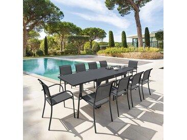 Table de jardin extensible Piazza Graphite