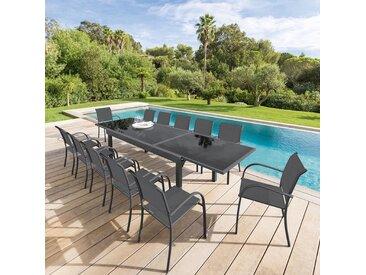 Table de jardin extensible Piazza Anthracite & Graphite