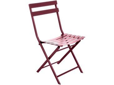 Lot de 4 chaises de jardin pliantes Greensboro Bordeaux