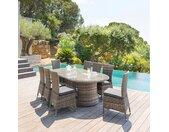 Table de jardin ovale Mooréa Terre d'ombre