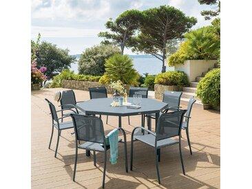 Table de jardin octogonale Piazza Gris quartz