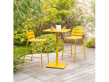 Table haute de jardin Phuket Jaune moutarde