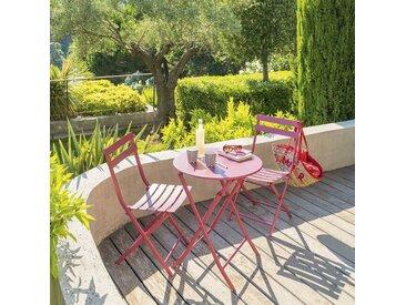 Table de jardin pliante ronde Greensboro Marsala