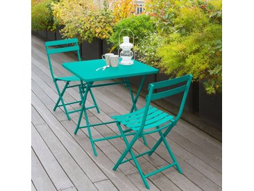 Table de jardin pliante carrée Greensboro Émeraude