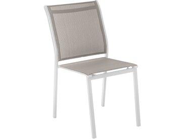Chaise de jardin empilable Essentia Noisette & Blanc