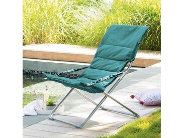 Fauteuil relax de jardin Milos Émeraude
