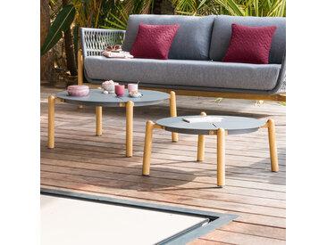 Lot de 2 tables basses de jardin Rubby Graphite