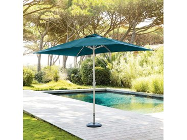 Parasol droit rectangulaire inclinable Fidji Bleu canard