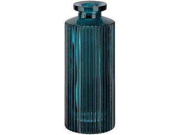Vase en verre bleu H13cm Alinéa