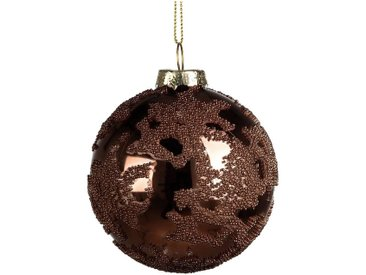Boule de Noël en verre bronze D8cm - alinea