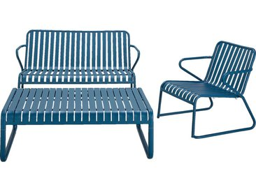 Canapé de jardin en aluminium - bleu figuerolles (2 places) - alinea