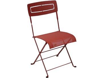Chaise pliante de jardin en métal - rouge - alinea