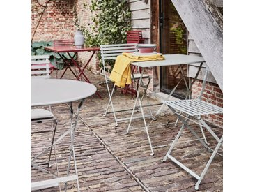 Table de jardin pliante vert olivier D60cm (2 places) - alinea