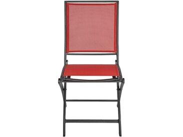 Chaise de jardin pliante rouge - alinea