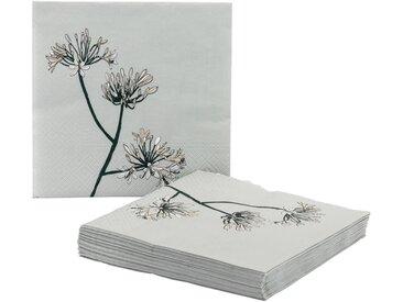 Lots de 20 serviettes en papier décoré gris borie 33x33cm - alinea