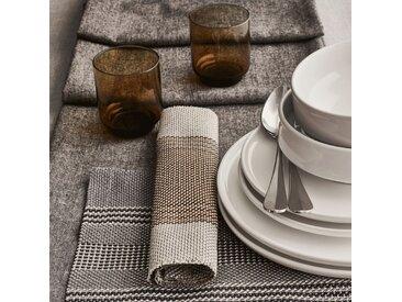 Lot de 2 sets de table en polyester gris 30x45cm (prix unitaire : 3.5 euros) - alinea