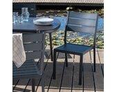 Lot de 2 chaise de jardin empilable en aluminium - noir (prix unitaire : 59.0 euros) - alinea