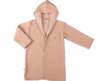 Peignoir enfant 4 à 6 ans en coton bio avec broderie lurex - rose salina - alinea