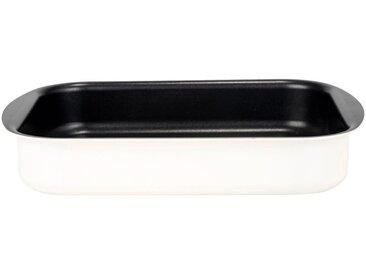 Plat à four rectangulaire en aluminium blanc nougat 25x35cm - alinea