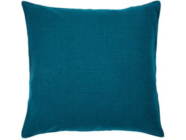 Coussin De Sol En Lin Lavé - Bleu Figuerolles 70x70cm - alinea