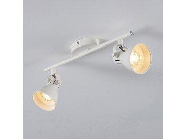 Barre de 2 spots LED L37xH6,50cm - blanc - alinea