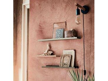 Etagère murale en acier rose L50xl10xH3cm Alinéa