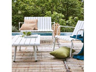 Fauteuil de jardin aluminium blanc - alinea