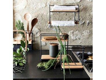 Support pour pot à épices en métal et bois H28cm - alinea