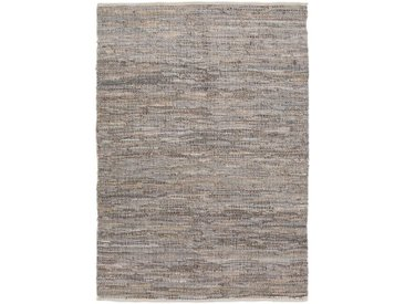 Tapis tressé en cuir gris 150x200 cm - alinea