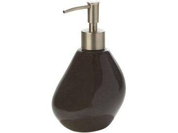 Distributeur de savon gris brillant en céramique Alinéa
