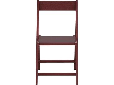 Lot de 2 chaise pliante en bois plaqué rouge sumac (prix unitaire : 35.0 euros) - alinea