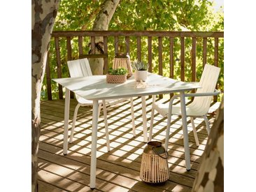 Chaise de jardin empilable en aluminium blanc Alinéa