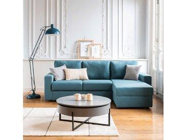 Canapé d'angle réversible convertible en tissu bleu figuerolles - alinea