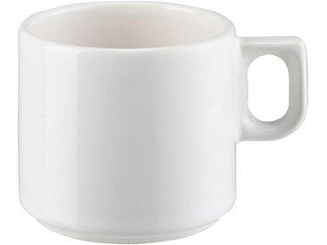 Lot de 6 tasses à thé en faïence blanc ventoux 25cl (prix unitaire : 3.0 euros) - alinea