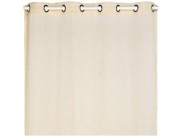 Voilage à oeillets beige roucas 135x360cm - alinea