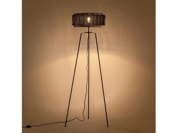 Lampadaire trépied en métal - noir H155cm - alinea