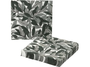 Lot de 20 serviettes en papier décoré 33x33cm - alinea
