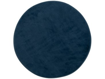 Tapis rond imitation fourrure bleu figuerolles - Plusieurs tailles Alinéa