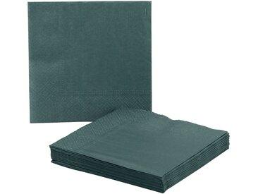 Lot de 20 serviettes en papier vert cèdre 33x33cm - alinea