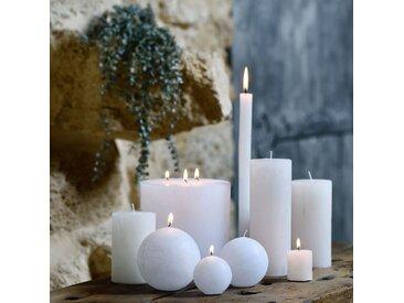 Bougie lanterne coloris blanc ventoux D15xH15cm - alinea