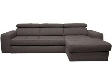 Canapé d'angle droit convertible en tissu anthracite - alinea