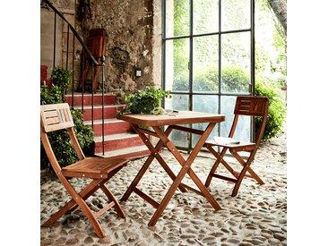 Table de jardin pliante en acacia huilé (2 places) - alinea