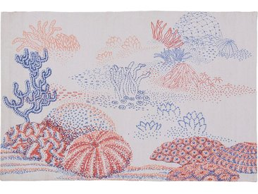 Tapis En Coton Tissé Plat Imprimé Algues Marines - Multicolore 120x180cm - alinea