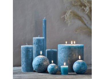 Bougie lanterne coloris bleu niolon D15xH15cm - alinea