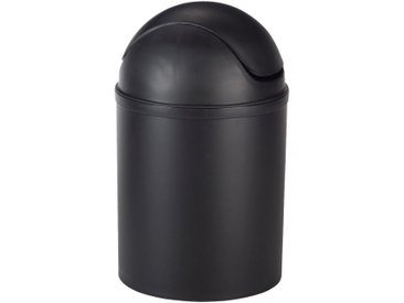 Poubelle de salle de bains 5L noire Alinéa