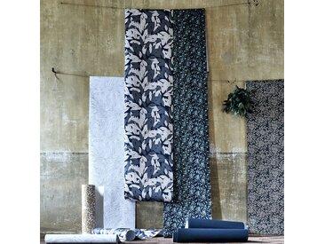 Papier peint intissé motif laurier blanc et noir 10m Alinéa