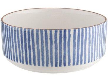 Saladier en faïence - bleu D24cm - alinea