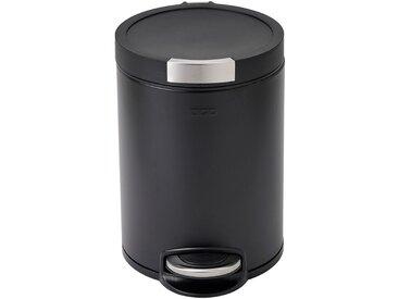 Poubelle à pédale en inox noir 5L - alinea