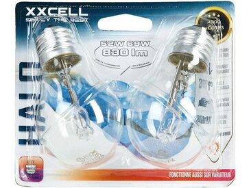 2 ampoules halogènes D6cm blanc chaud culot E27 Alinéa