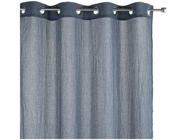 Voilage à œillets bleu 130x250cm - alinea